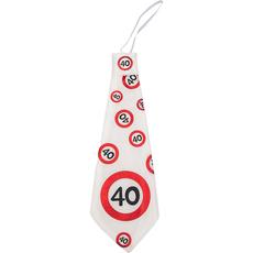 Kravata iz blaga - prometni znak 40,  31cm