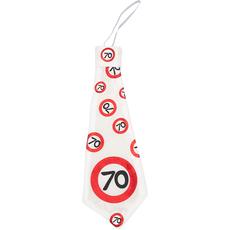 Kravata iz blaga - prometni znak 70,  31cm