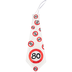 Kravata iz blaga - prometni znak 80,  31cm