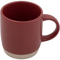 Lonček za kavo rdeč, kamenina, 31ml