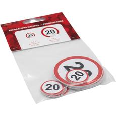 Nalepka,  prometni znak, št. 40, 24x 2.5cm, 24x 5.5cm