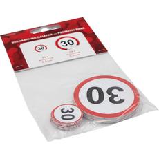 Nalepka,  prometni znak, št. 30, 24x 2.5cm, 24x 5.5cm