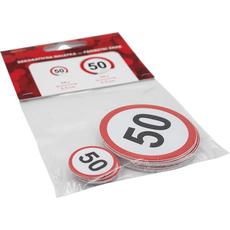 Nalepka,  prometni znak, št. 50, 24x 2.5cm, 24x 5.5cm