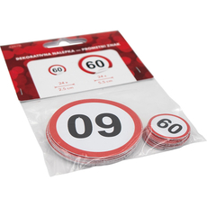 Nalepka,  prometni znak, št. 60, 24x 2.5cm, 24x 5.5cm