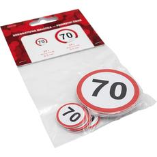 Nalepka,  prometni znak, št. 70, 24x 2.5cm, 24x 5.5cm