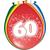 Baloni barvni iz lateksa, 60, 8kom, 3Ocm