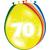 Baloni barvni iz lateksa, 70, 8kom, 3Ocm