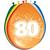 Baloni barvni iz lateksa, 80, 8kom, 3Ocm