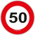 Set Konfeti XL Prometni Znak 50