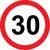 Prometni znak 30 let - 37cm, Arma