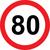 Prometni znak 80 let - 37cm, Arma