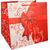 Vrečka za darila z rdečo pentljo 32x32x35cm